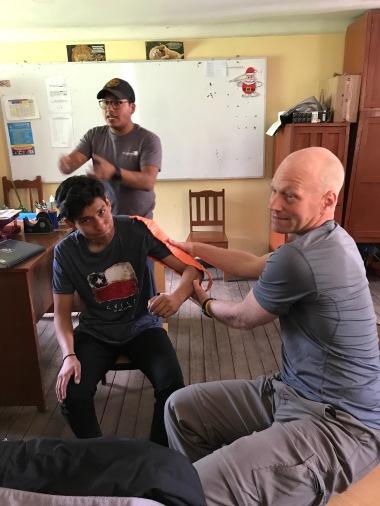 Teaching First Aid to teachers.