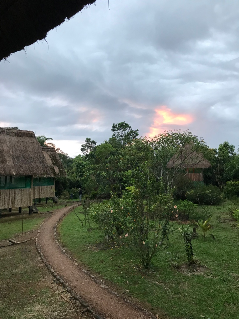 Bambu Lodge at sunset.